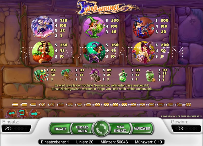 Wild Witches slots - spil Wild Witches slotspil